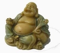 Buddha with wealth ingot and ru yi - (Fo hu shen fu)